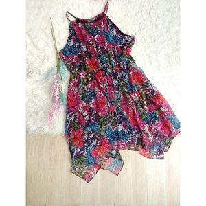 Lane Bryant Floral Ethereal Handkerchief Hem Dress